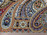 Горожанка 1836-2, павлопосадский платок шерстяной  с шелковой бахромой, фото 6