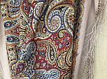 Горожанка 1836-2, павлопосадский платок шерстяной  с шелковой бахромой, фото 9