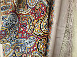 Горожанка 1836-2, павлопосадский платок шерстяной  с шелковой бахромой, фото 10
