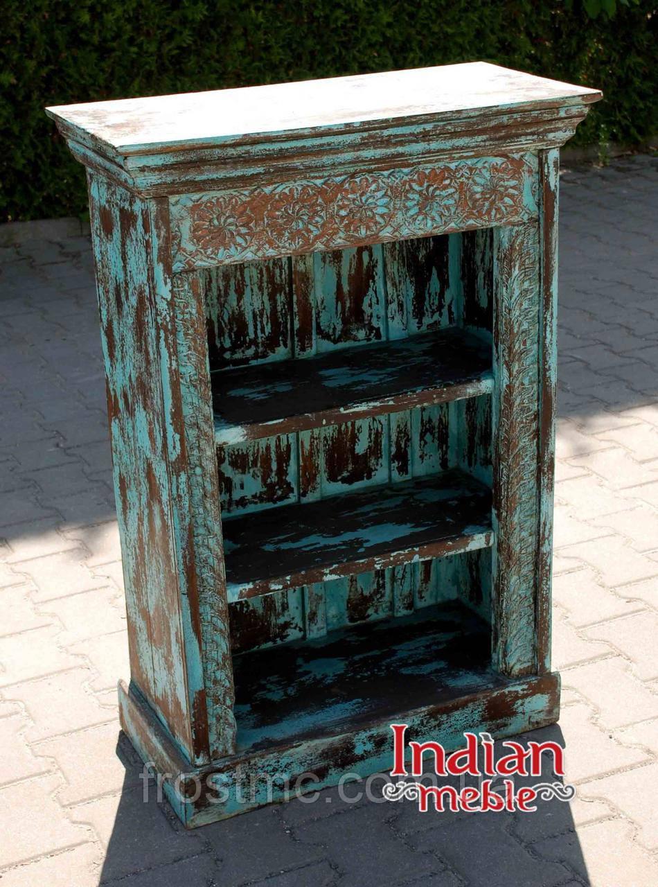 Indyjski drewniany regał/biblioteka