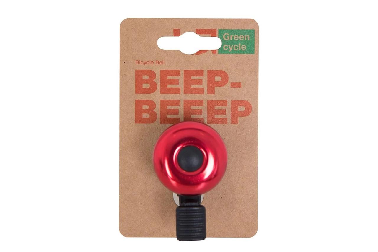 Звонок Green Cycle GBL-02A 35мм Red
