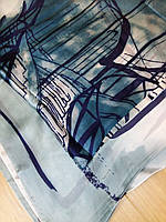 Платок брендовый шелк бирюзовый