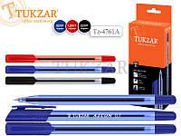Ручка шариковая с чернилами на масляной основе Трехгранный прозрачный пластиковый корпус; цветной пластиковый