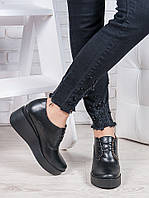 Туфли черные на платформе 6867-28, фото 1