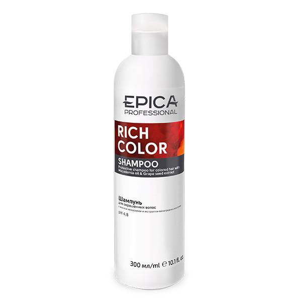 Шампунь EPICA Rich Color для окрашенных волос с маслом макадамии и экстрактом виноградных косточек (300 мл)