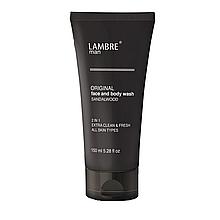 Мужской гель для умывания и душа LAMBRE MAN Original Face and Body Wash с ароматом сандалового дерева 150мл