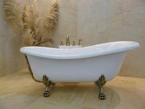 Ванна ретро OTYLIA 160*77 Besco з ніжками бронза