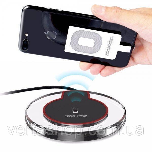 Беспроводная зарядка Wireless Charger Fantasy с адаптером iPhone