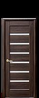 Дверное полотно Линнея Каштан со стеклом сатин
