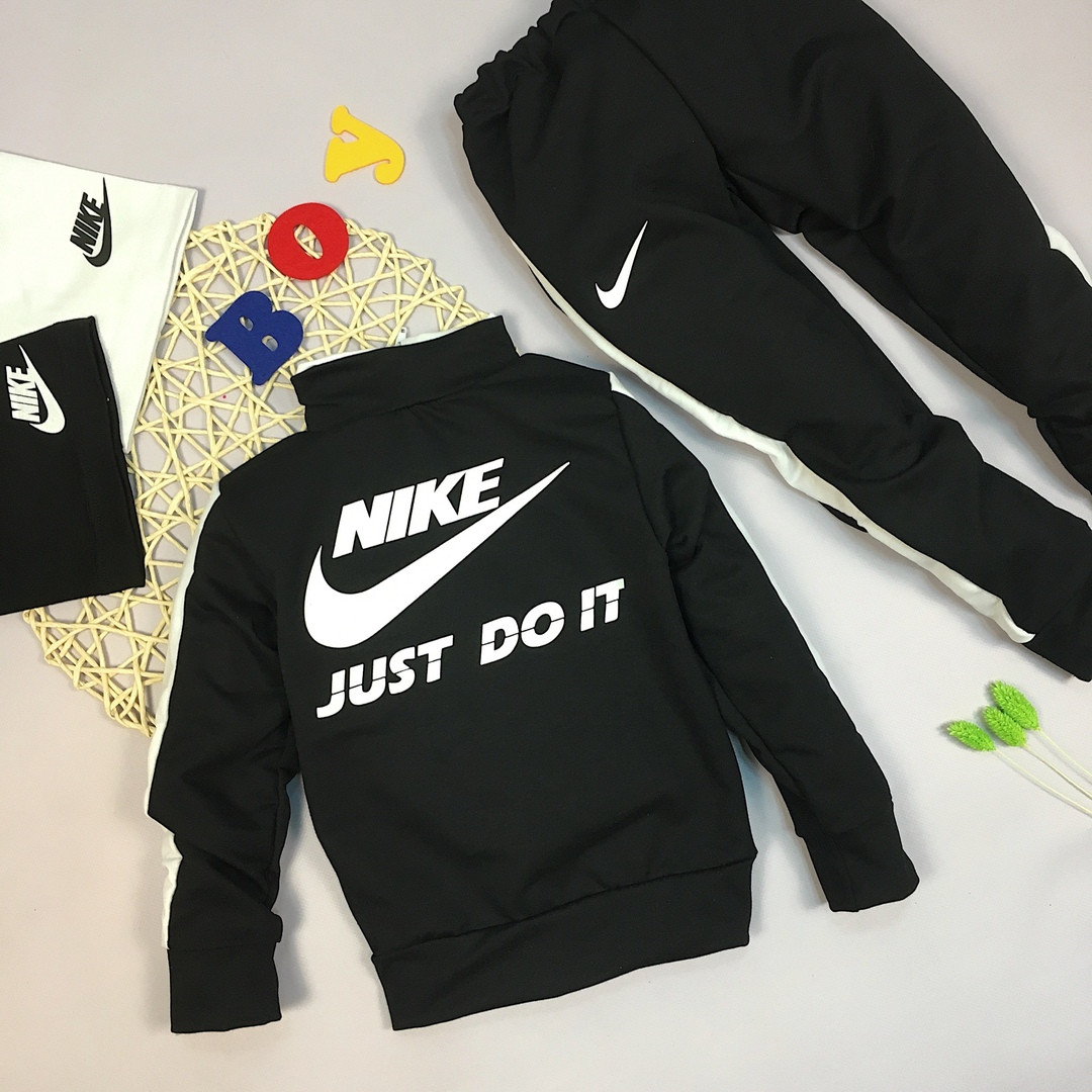 322247f3 Детский спортивный костюм на мальчика найк черный,двухнить.: продажа ...