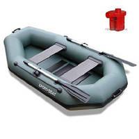 Лодка надувная Sport-Boat L 240LS + Насос электрический Турбинка 12V АС 401