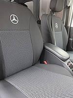 Чехлы в салон Мерседес Вито - Чехлы для сидений Оригинальные Mercedes-Benz Vito (1+2/1+2+2 подл/3 диван) 9 мест с 2014-2018 г (Elegant)