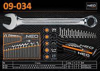 Набор комбинированных ключей 6-24мм, 19шт., NEO 09-034