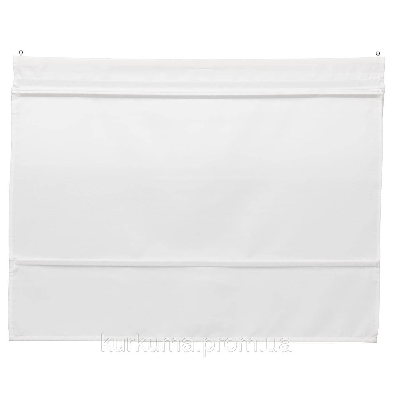IKEA RINGBLOMMA Римские шторы, белый  (302.580.60)