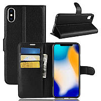 Чехол-книжка Litchie Wallet для Apple iPhone XS Max Черный