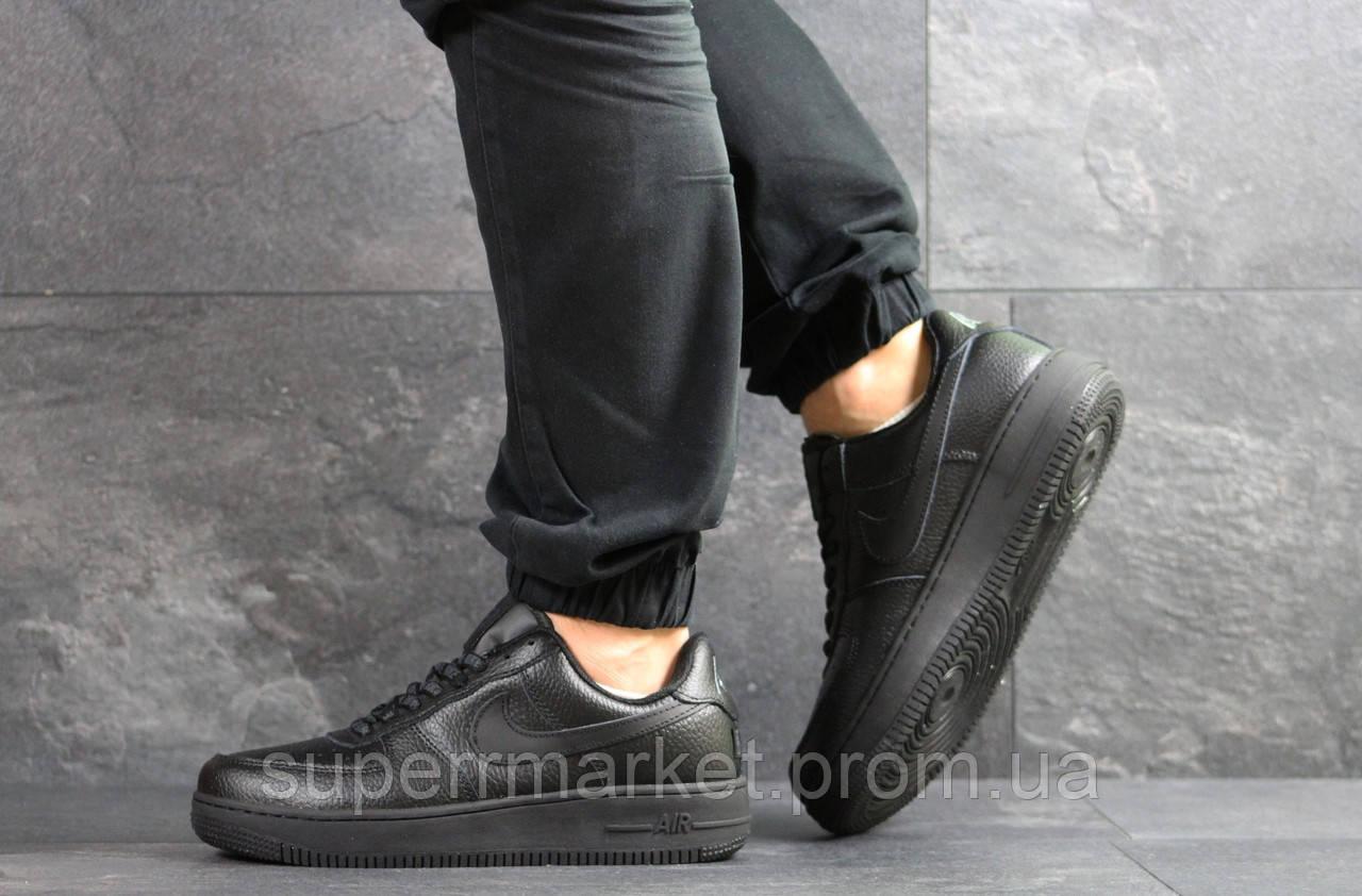 Кроссовки в стиле Air Force AF 1 черные, код7465
