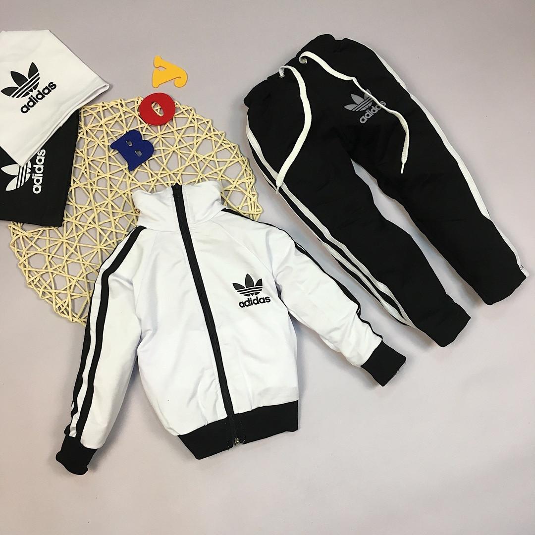dfc28b3b Детский спортивный костюм на мальчика адидас белый,двухнить. - *МОДНЫЙ  BAZAAR* Одежда