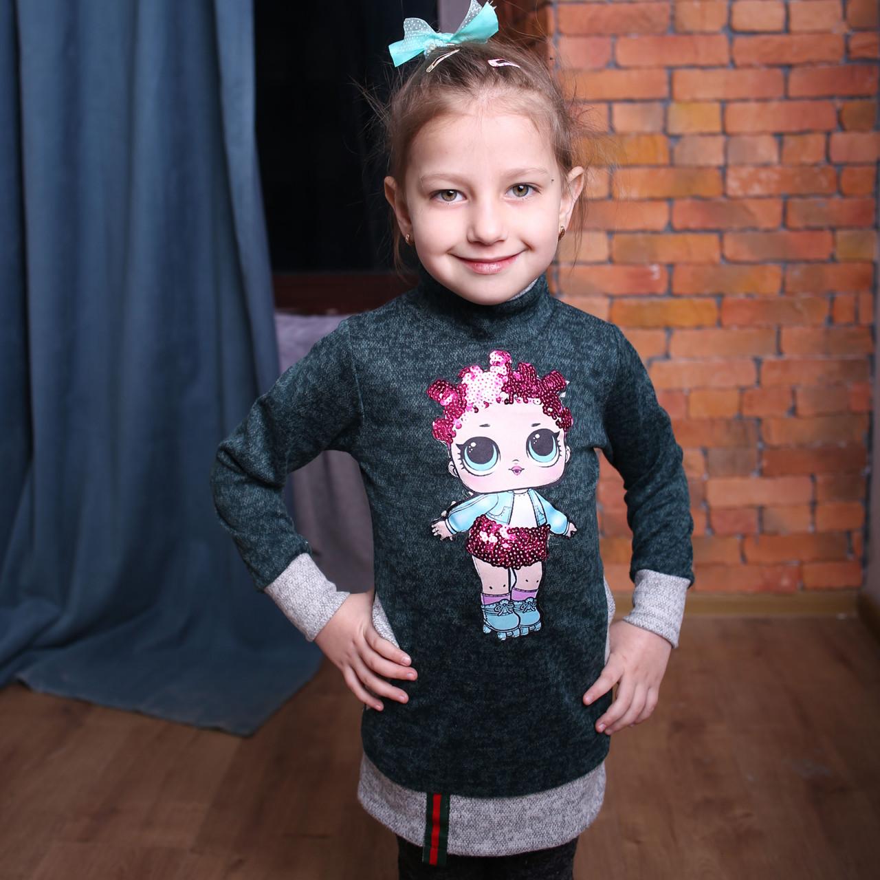 Платье туника на девочки Туника для девочки Детские туники Модель 2019