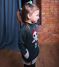 Платье туника на девочки Туника для девочки Детские туники Модель 2019 , фото 2