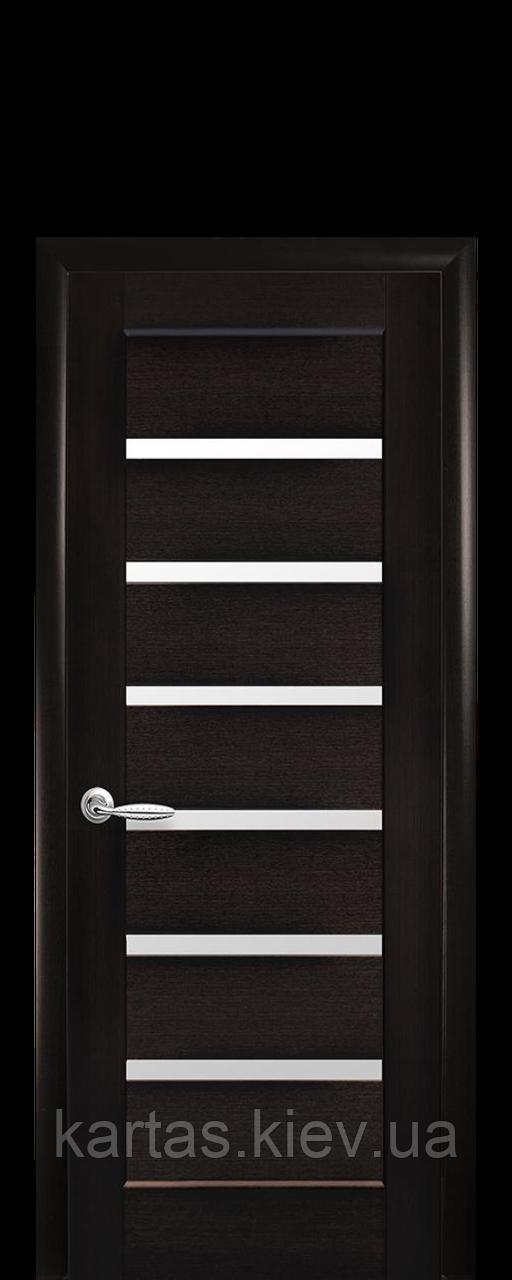 Дверное полотно Линнея Венге New со стеклом сатин
