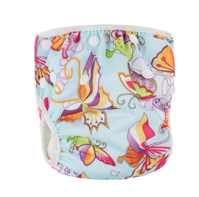 Непромокаемые плавки-подгузники для малышей Бирюзовые Бабочки (11666)