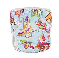 Непромокаемые плавки-подгузники для малышей Бирюзовые Бабочки (11666), фото 1