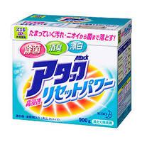 KAO Attack All In Концентрированный антибактериальный стиральный порошок с кондиционером (без фосфатов) 900 г