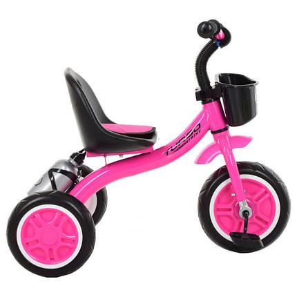 Детский трехколесный велосипед M 3197-M-2 с корзиной, малиновый, фото 2
