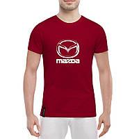 Футболка с печатью принта логотип Мazda, фото 1