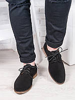 Мужские замшевые черные туфли 6880-28, фото 1