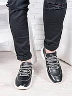 Мужские кожаные кроссовки т.синий 6891-28, фото 1