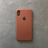 Силиконовый чехол на айфон XR коричневый Silicone Case iPhone XR coffee