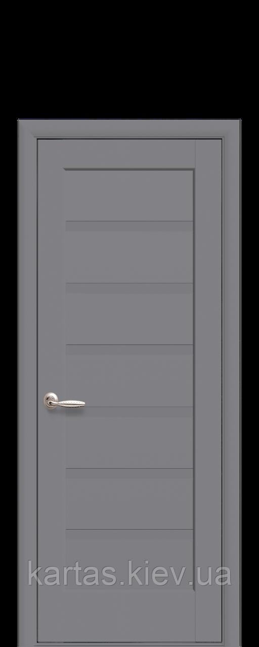 Дверное полотно Линнея Антрацит глухое