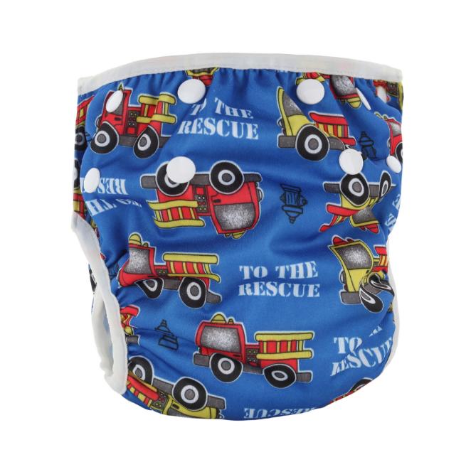 Непромокаемые плавки-подгузники для малышей Пожарная машина (11671)