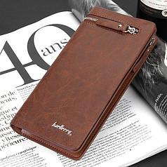 Мужской кошелек клатч портмоне Baellerry S6183 коричневый
