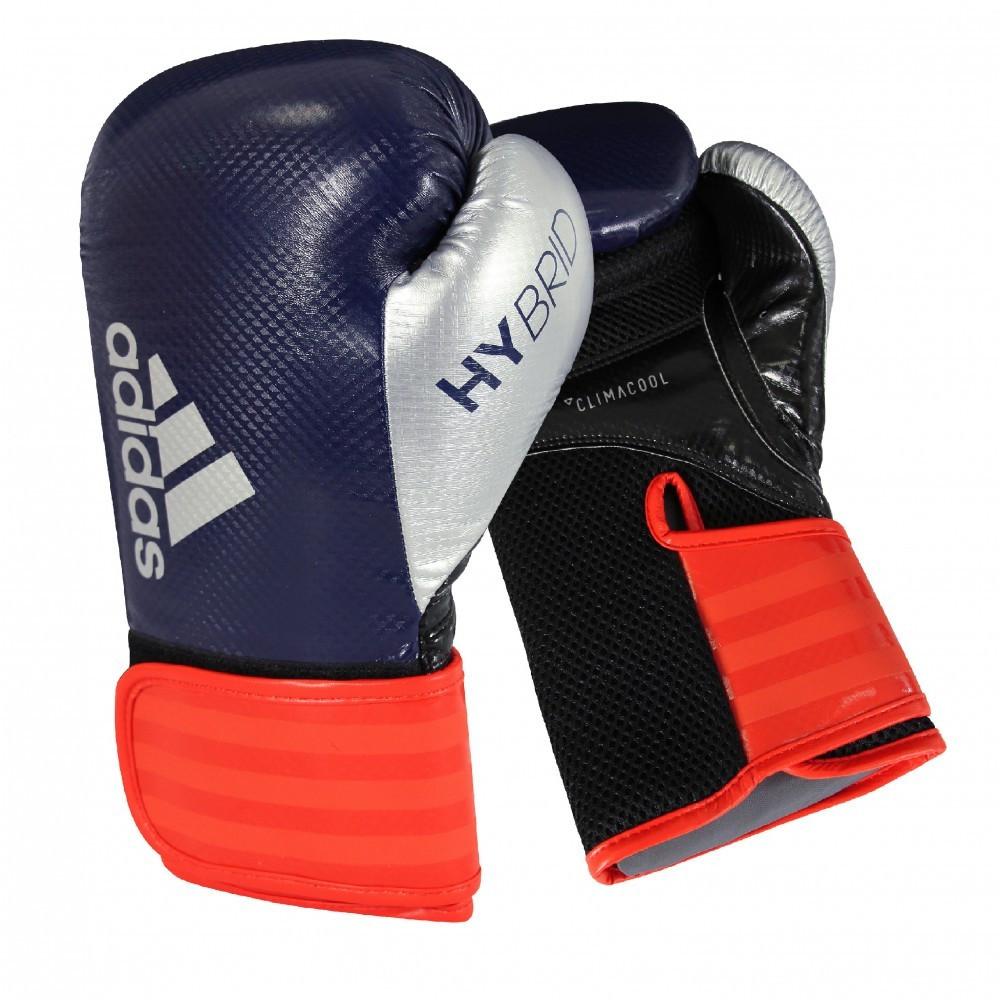 Боксерские перчатки Hybrid 65 | Цвет синий, красный, серебрянный adiH65