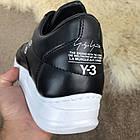 Кроссовки мужские черные Adidas Y-3 Bashyo Sneakers Black/White, реплика р 40,41, фото 8