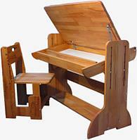 Парта-мольберт регулируемая 90см со стулом Домовичок