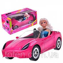 Кукла Defa 29 см в машинке 40 см Кабриолет Игровой набор, ремни безопасности 8228