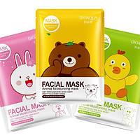 Тканевая маска с экстрактом зеленого чая Bioaqua Facial Mask (Мишка)