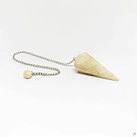 Маятник конус желтый лунный камень, фото 1