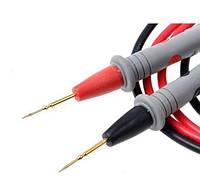 Щупы для тестера с тонкими наконечниками, CATIII 1000V, 20А, 4мм, силиконовый кабель