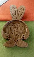 """Детская тарелка из дерева """"Крош"""". Детская посуда. Детские тарелки. Декоративные тарелки."""