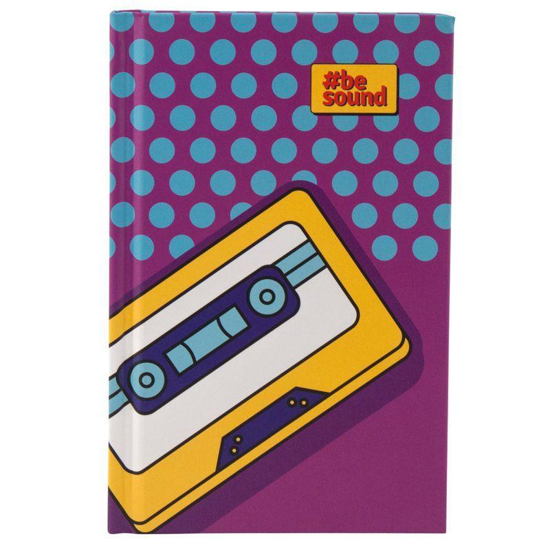 Книга записная KITE BeSound-2 K19-199-2 твердая обложка А6, 80 листов, клетка