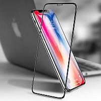 Защитное стекло Apple Iphone XS Full cover черный 0,26 мм в упаковке