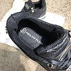 Кросівки чоловічі Philipp Plein Runner Sky Black/White, репліка, фото 9