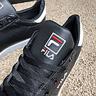 Кроссовки мужские черные реплика Fila Court Delux Black/White р 40,41,44, фото 3