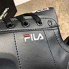 Кроссовки мужские черные реплика Fila Court Delux Black/White р 40,41,44, фото 4