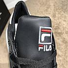 Кроссовки мужские черные реплика Fila Court Delux Black/White р 40,41,44, фото 6