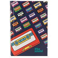 Книга записная KITE BeSound-3 K19-199-3 твердая обложка А6, 80 листов, клетка, фото 1